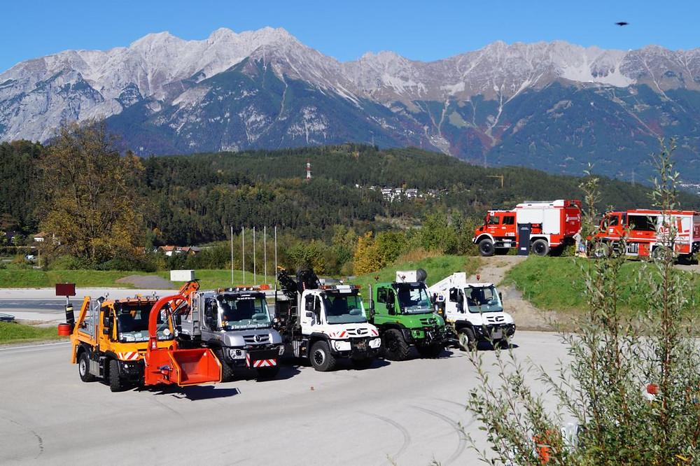 Unimog-Tourstopp Innsbruck