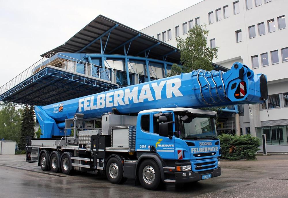 Scania mit Ruthmann Steiger für Felbermayr