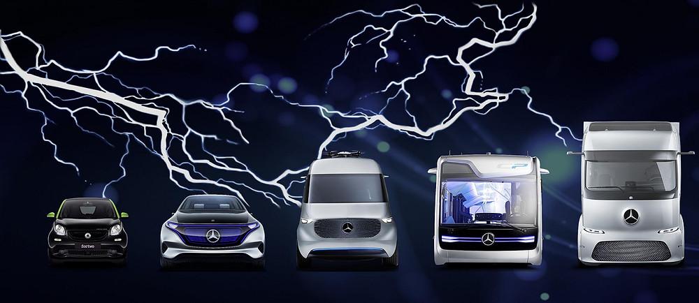 Daimler - elektrisch in allen Segmenten