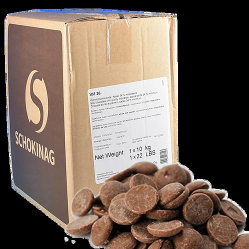 Schokinag -10kg- pastille Lait 37%