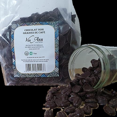 Chocolat noir - Grains de café 500gr