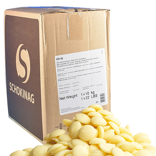 Schokinag - pastille 10kg Blanc