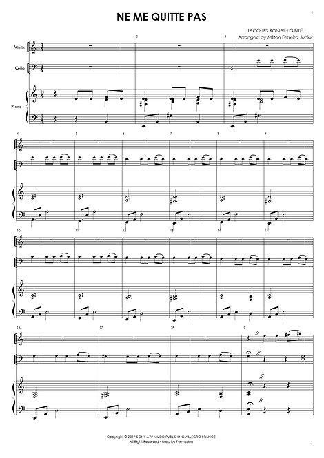 Ne Me Quitte Pas - Piano Trio