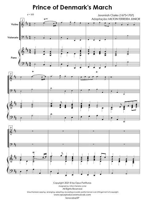 Prince of Denmarks March - Piano Trio