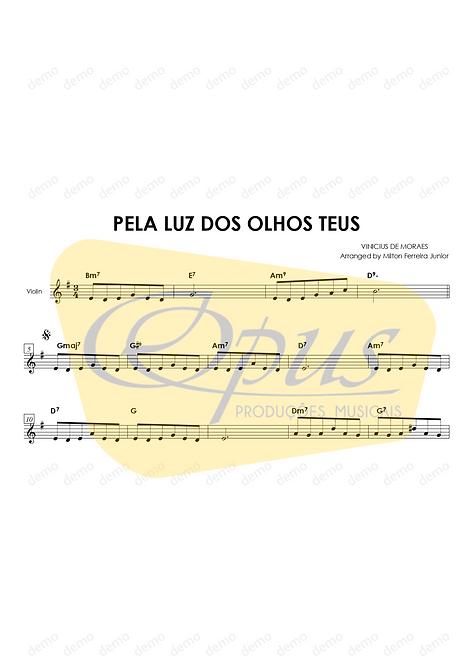 Pela Luz dos Olhos Teus - Violino + Cifras
