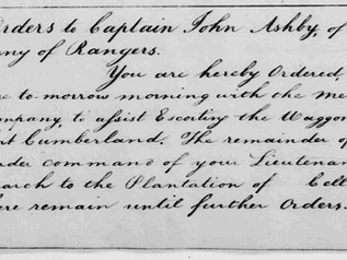 Washington's Order to Proceed to the Site Which Will Become Fort Ashby