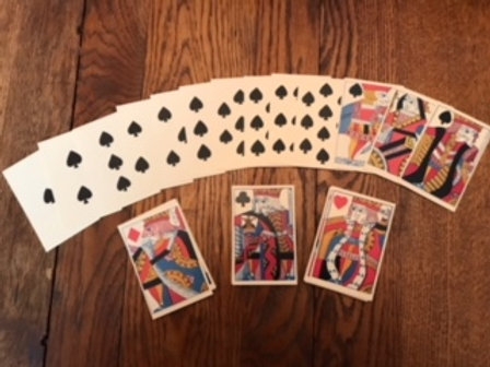 1750's Reproduction Playing Cards