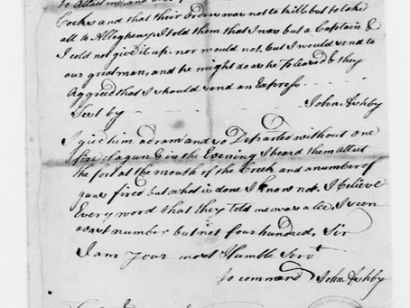 Letter From Capt. Ashby About Indians Demanding the Surrender of his Fort