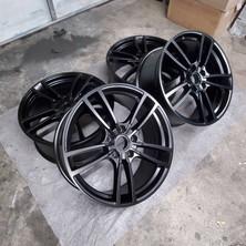 Satin black Cayenne Turbo S wheels.