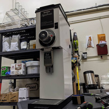 Coffee machine case done in gloss white