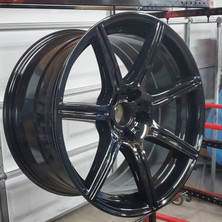 BMW 650 wheel refinished and colormatched.