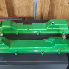 2JZ valve covers coated in Illusion Lime Time