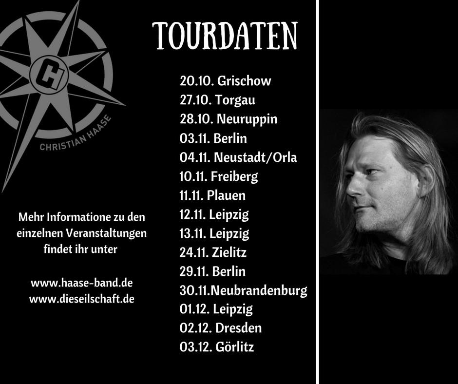 Christian Haase Tourdaten 2017 4. Quartal