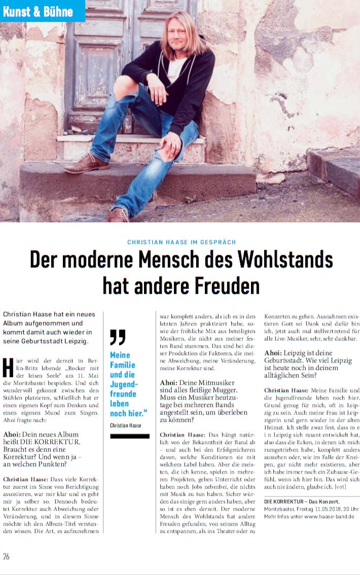 Christian Haase Ahoi Stadtmagazin Leipzig