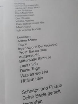 Die Set-Liste