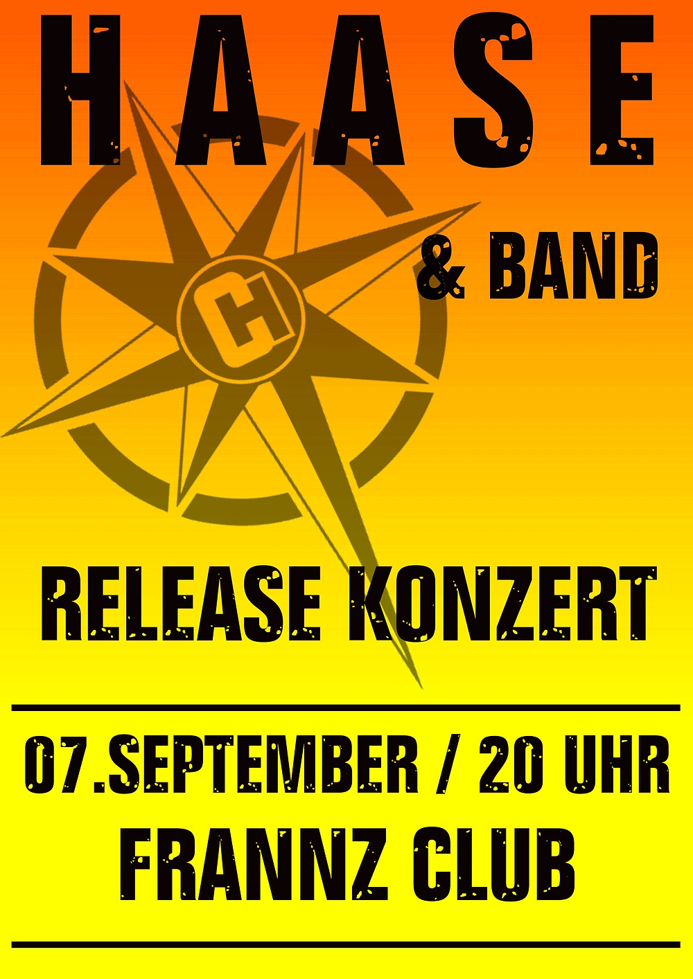 Christian Haase & Band Plakat Frannz Club