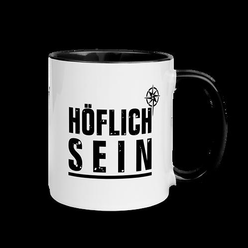 """Tasse """"Höflich"""" Druck: schwarz"""