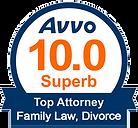 AVVO 10.0 Ttop Attorney Family Law Divorce