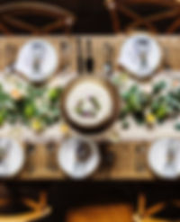 Tavolo da pranzo festivo