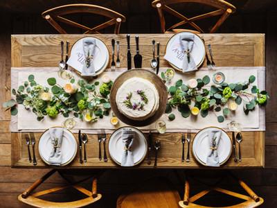 Individuelle Tischdekoration