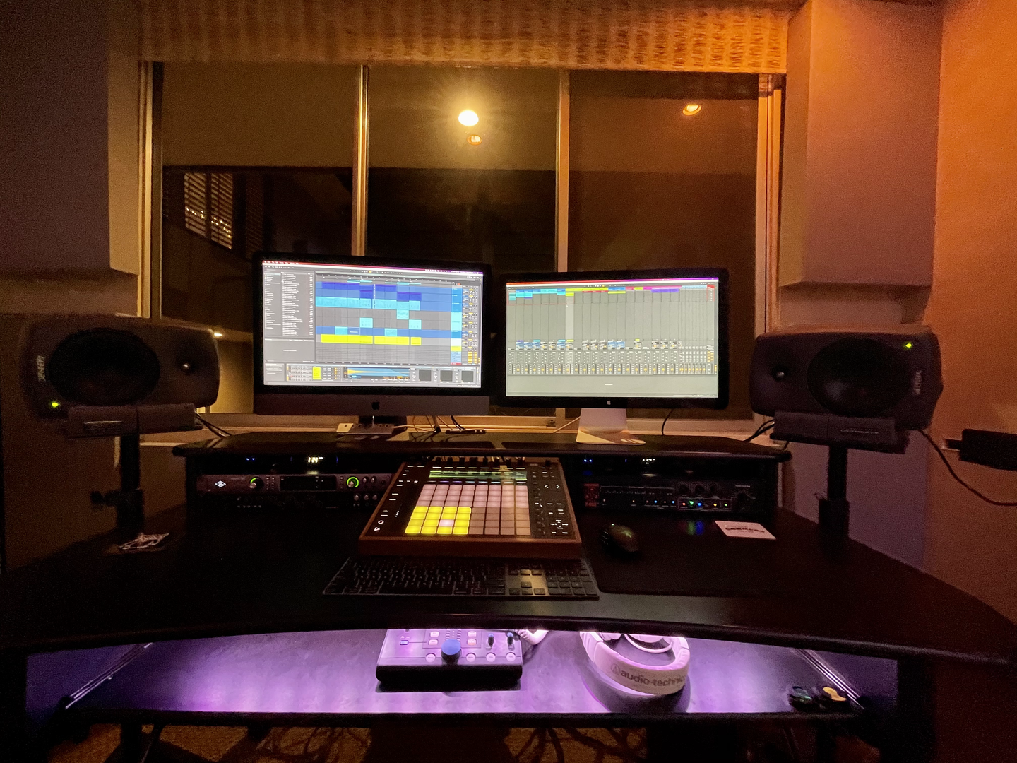 Summit Studios - recording desk