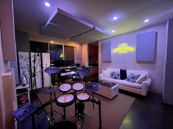 Summit Studios - drumset view