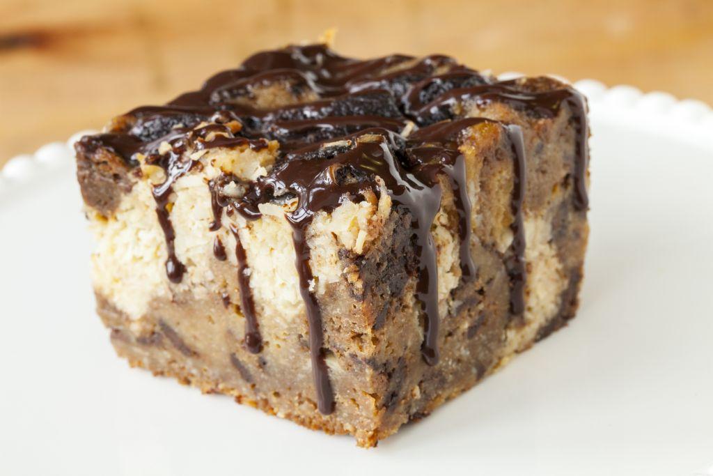 Choc Almond Bread Pudding
