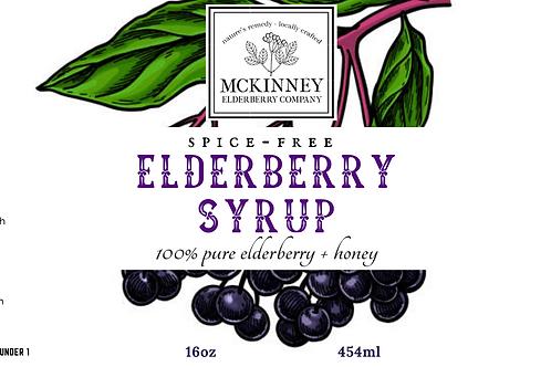Elderberry Syrup - Spice Free