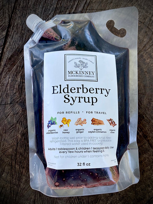 REFILL: Traditional Elderberry Syrup 32oz