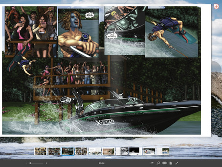 Shake The Lake Comic in Unleashed Wake Magazine