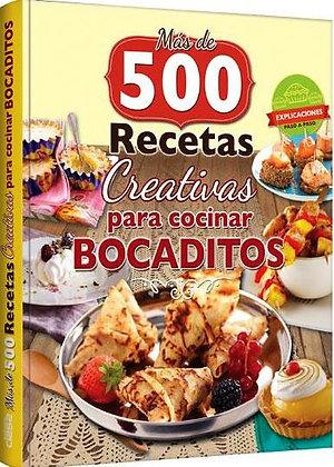 500 RECETAS PARA COCINAR BOCADITOS