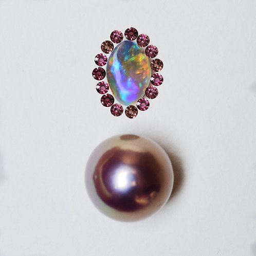 """Pink Madness"" 0.76ct Boulder opal pendant"