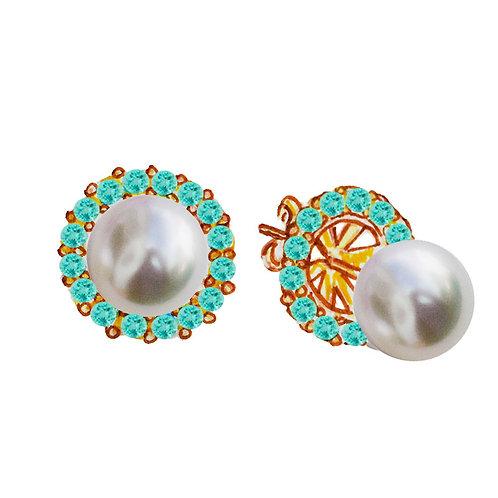 """Amélia"" Lab-created paraiba tourmaline earrings"