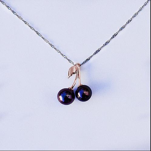 """""""Tahitian Cherries"""" 9mm Tahitian pearl pendant"""