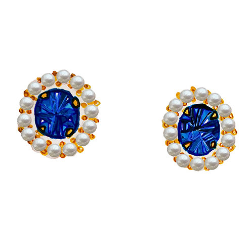 """Diana"" Lab-created Ceylon blue sapphire earrings"