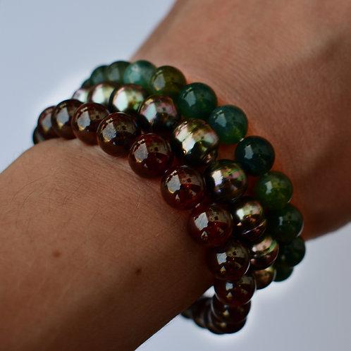 """""""Sunset"""" Tahitian pearl bracelet set"""