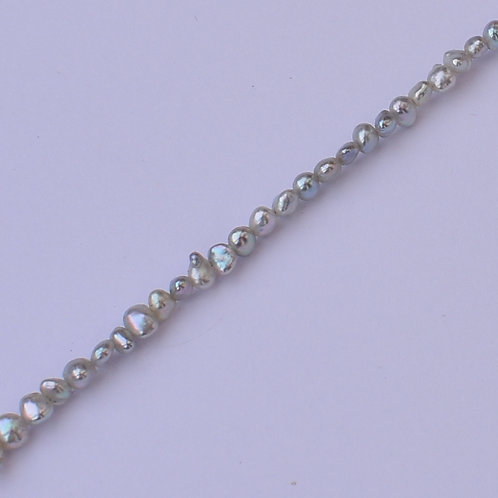 """Tiny Blues"" 2-3mm akoya keshi pearl necklace"