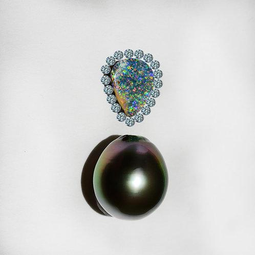 """Gemstone Cave"" 2.15ct Boulder opal pendant"