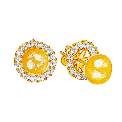 """""""Anastasia"""" Lab-created diamonds earrings"""