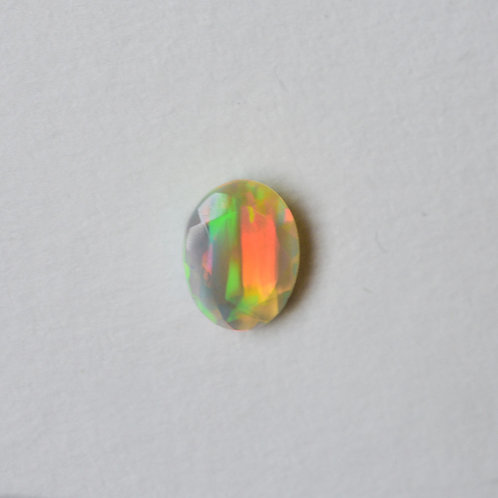 """Who Spilled the Rainbow?"" 2.55ct faceted Ethiopian opal ring"