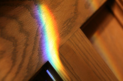 Light from the stained glass windows