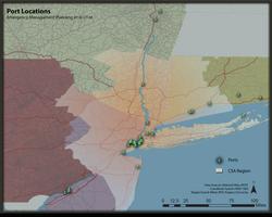 Port Locations in FEMA Region