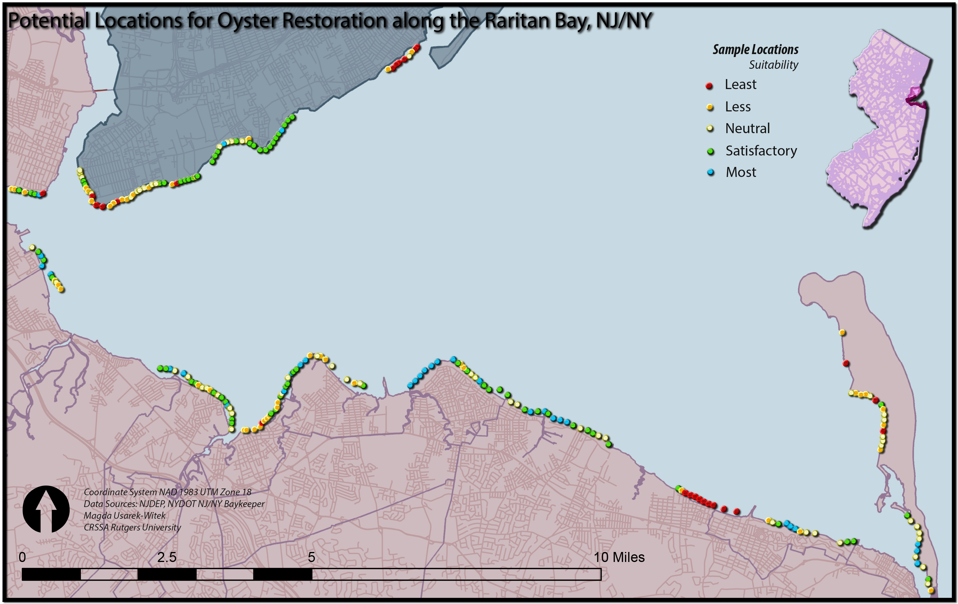 Web Map for Oyster Resotration