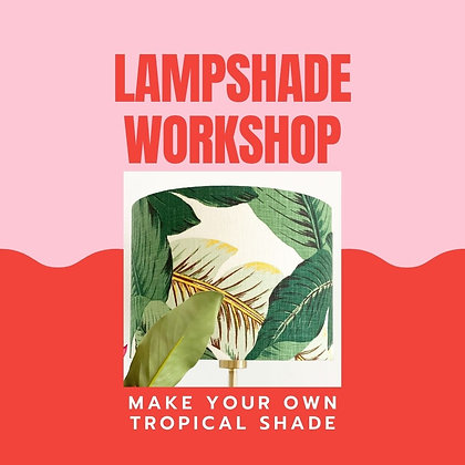 Make your own tropical lampshade