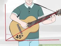 Correct guitar angle.