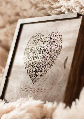 Drevená svadobná krabička