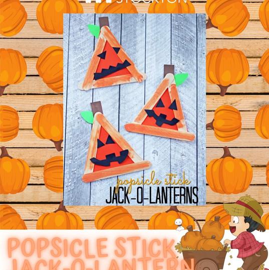 Popsicle Stick Jack-O-Lantern (Complete)