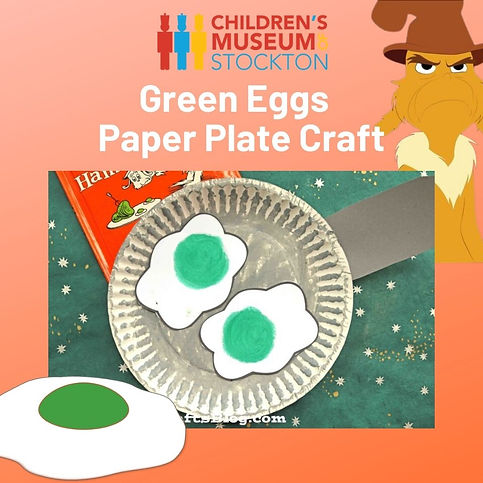 Green Eggs and Ham Paper Plate Craft (1)