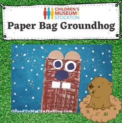 Groundhog paper bag craft (Complete)CDM.