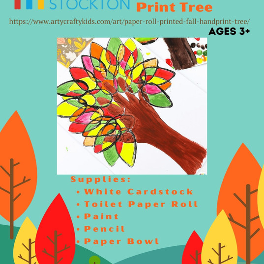 Toilet Paper Roll Fall Hand Print Tree (